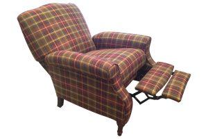 plaid accent chair x