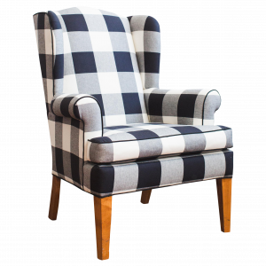plaid accent chair black and white buffalo check wingback chair