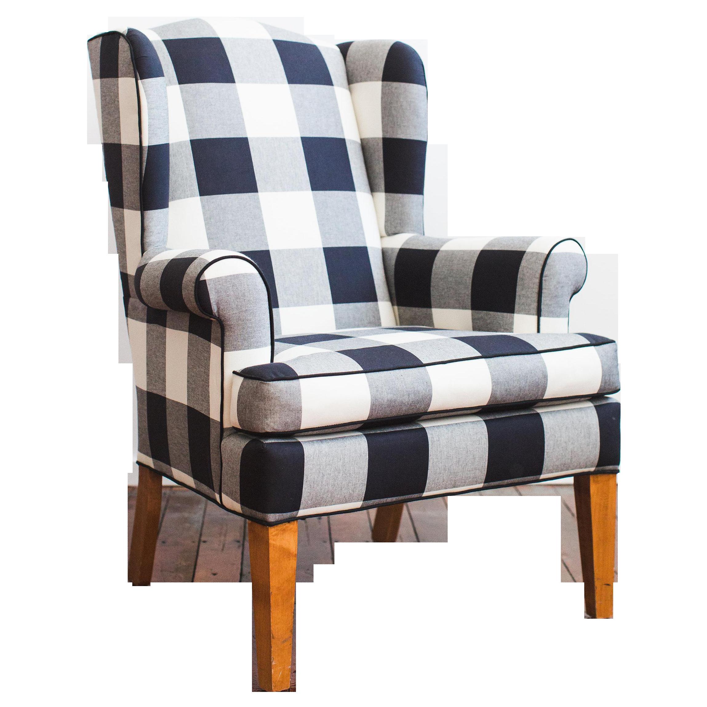 plaid accent chair