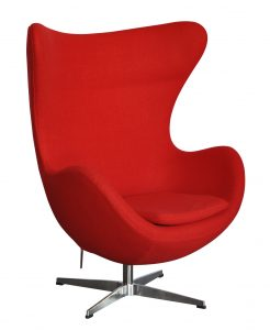plastic desk chair red egg chair