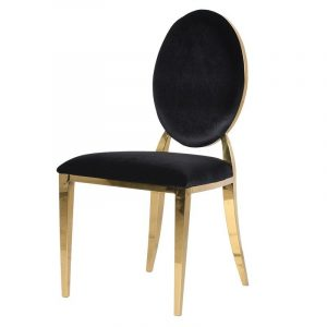 plush office chair eros black gold velvet oval back dining chair p