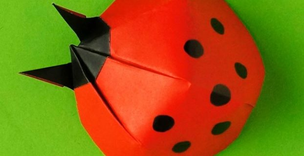 pull up a chair origami ladybug