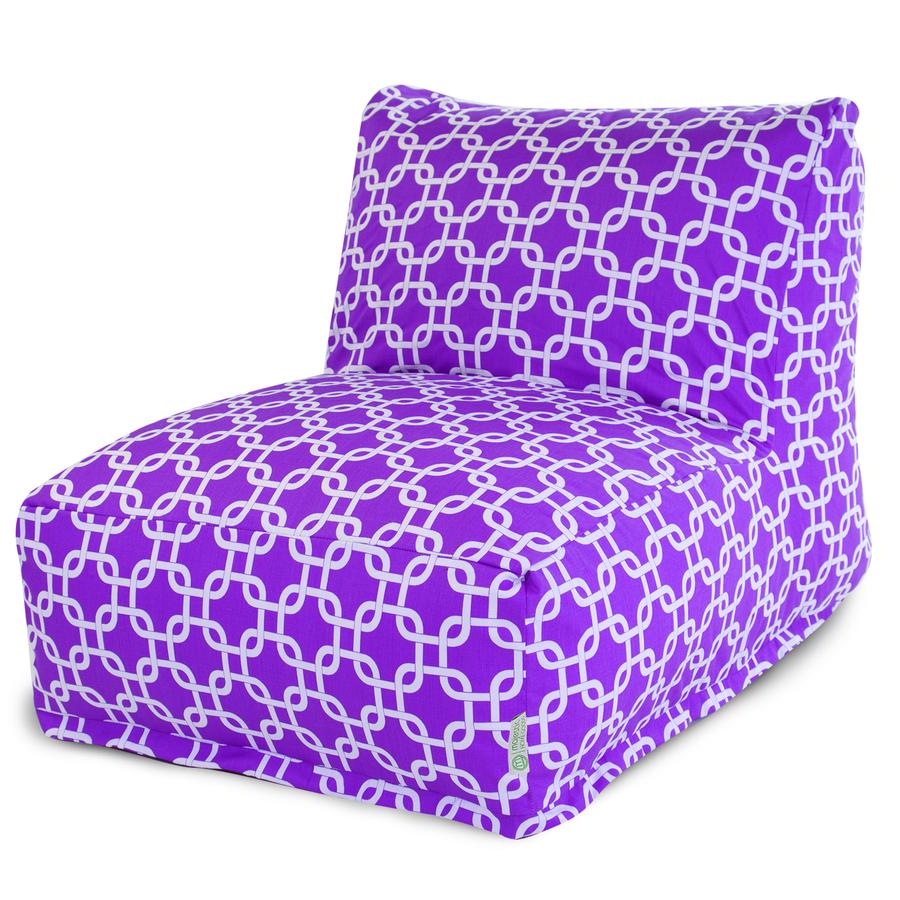 purple bean bag chair