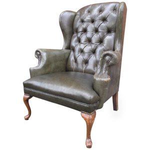 queen anne wingback chair z