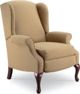 queen anne wingback chair lane hampton hi leg recliner