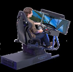 race car chair motion flight simulation cockpit