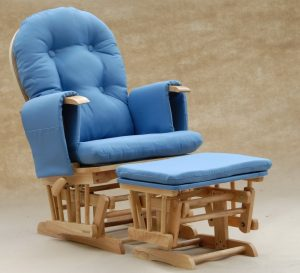rattan rocking chair modern glider rocking chair in blue
