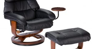 recliner gaming chair southern enterprises high back leather recliner and ottoman black e