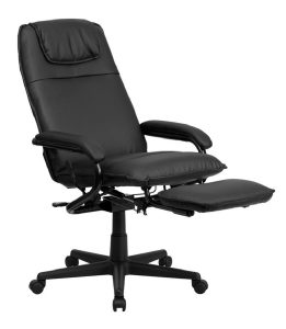 reclining office chair flash furniture high back black leather executive reclining swivel office chair