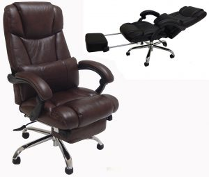 reclining office chair leather reclining office chair