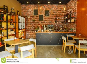 red chair cafe cafe interior modern decoration