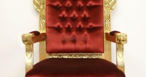 red velvet chair throne hire
