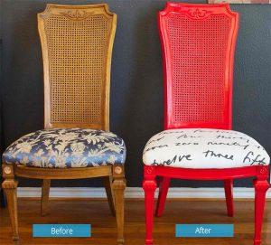 reupholster office chair joellebefore