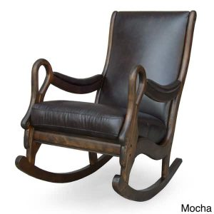 rocking accent chair vintage leather rocking chair fed bad cfa