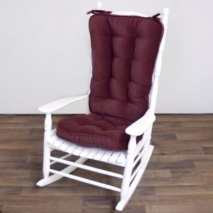 rocking chair cushion greendale home fashions jumbo rocking chair cushion set hyatt fabric burgundy rocking chair accessory