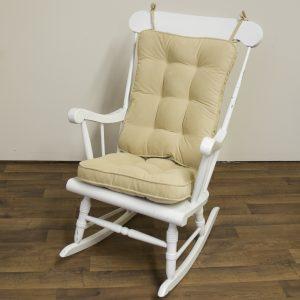 rocking chair cushion greendale home fashions standard rocking chair cushion hyatt fabric cream rocking chair accessory