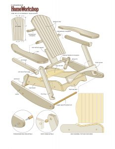 rocking chair plans muskoka rocker