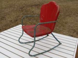 rocking lawn chair antique metal childsdolls outdoor rocking chair very
