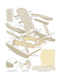 rocking lawn chair muskoka rocking chair woodworking plans