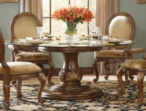 round back chair elegant round glass dining table