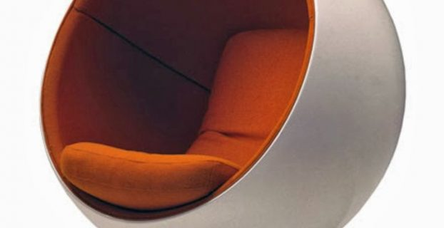 round dining table and chair futuristic white and orange round reading chair