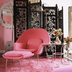 saarinen womb chair womb chair in pink
