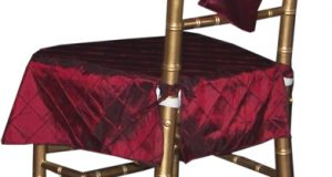 sashes for chair burgundy