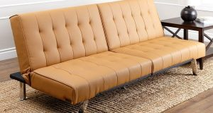 single sleeper chair abbyson living jackson camel leather foldable futon sofa bed e f b cdce