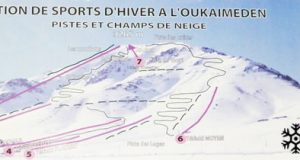 ski lift chair oukaimeden piste map