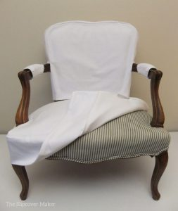 slip cover chair french chair ticking stripe