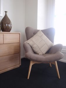 small comfy chair elegant comfy chairs for small spaces with pillows and wooden cabinet