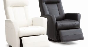 small glider chair a pair of modern swivel recliners in black and white colours