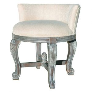 small swivel chair bathroom vintage bathroom vanity stool with cream color