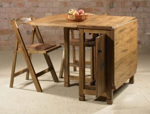space saving table and chair small drop leaf table with chair storage plus classic design style