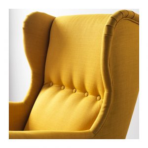 strandmon wing chair strandmon wing chair skiftebo yellow pe s