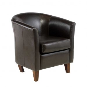 stylish desk chair kara affordable bonded faux tub chair