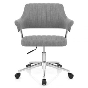stylish desk chair skyline office chair grey fabric oc tag