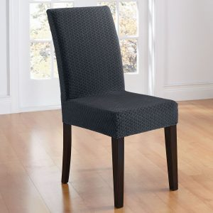 sure fit dining chair covers dark charcoal stretch dining chair slip covers with small diamonds pattern ornaments with dining room covers also slipcover for dining chairs