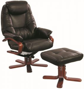 swivel arm chair gfa macau chocolate bonded leather swivel recliner chair