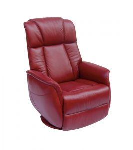swivel recliner chair sorrento red