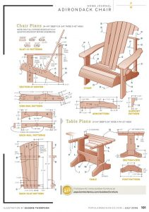 tall adirondack chair plans popular mechanics chair w table
