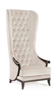 tall wingback chair high back chair duchess t beige