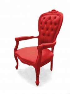 the red chair seeing red chair