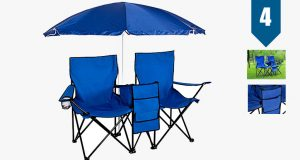 tri folding beach chair picnic double folding chair umbrella