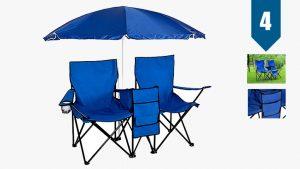 tri folding beach chair picnic double folding chair umbrella