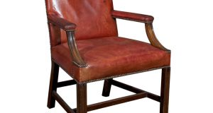 tufted leather dining chair georgian style mahogany armchair