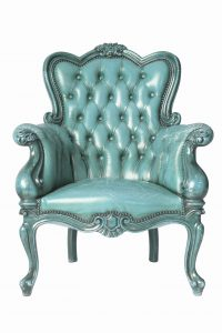 tufted leather dining chair leather wingback is tufted heirloom and distressed in a turquoise wood finish