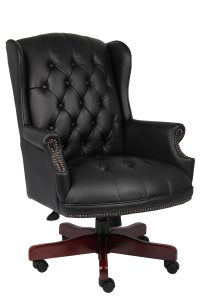 tufted office chair b bk