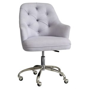 upholstered desk chair with wheels tufted upholstered desk chair c