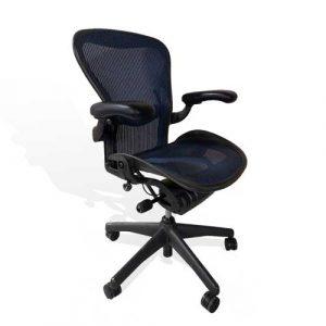 used aeron chair uchmaeron blue b